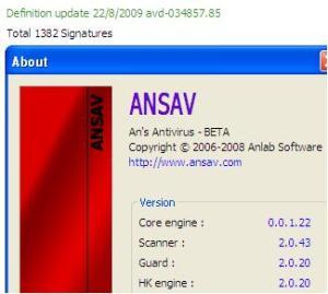 ansav 2.0.43 agustus 2009